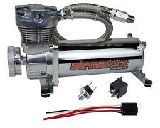 Air Ride System Compressor Chrome AirMaxxx 480 Air Horn Suspension 150 Switch
