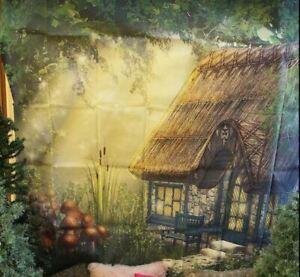 Vinyl Studio Tree Nature Forest Cottage Photography Backdrop Background 6 x 6ft