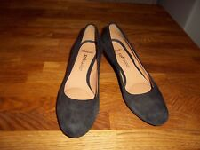 Clarks softwear black suede leather stiletto court shoes 5.5