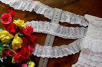 Smocked Gathered Lace - IVORY CREAM - 40mm wide - Approx 4.5 Metre Lengths GaHg