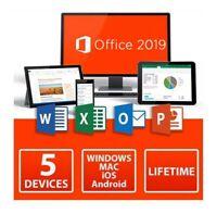 Microsoft Office 2019 Professional Plus 5 PC