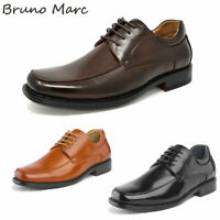 Bruno Marc Mens Oxfords Shoes Square Toe Lace up Classic Dress Shoes Size 6.5-13