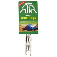 Coghlan's 9-inch Twist Aluminum Skewer Tent Pegs, set of 4 .. New