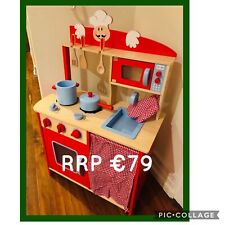 ** KIDS WOODEN TOY KITCHEN #1 - WITH UTENSILS - BRAND NEW - TOP QUALITY !