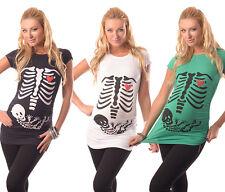 Skelett-bezaubernd Slogan Baumwolle Bedruckt Mutterschaft Schwangerschaft Top T-Shirt 2003/16