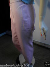 ESCADA SUBLIME PANTALON LAINE ROSE PALE 38 PROVENANT D'UN DEFILE DE MODE RARE !!
