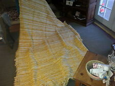 VINTAGE HAND WOVEN COTTON BLANKET