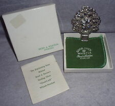 Vintage Reed Barton Sterling Silver Good Luck Whistle Xmas Ornament Pendant Gift