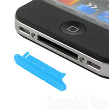TAPPO ANTIPOLVERE SLOT DOCK PER IPHONE 3G / 3Gs / 4 / 4s E IPAD 1/2 WIFI/3G BLU