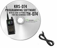 RT Systems KRS-D74 Programming Software and cable for the Kenwood TH-D74A