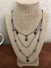 Silpada N1611 Black 3 Tiered Necklace RETIRED