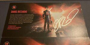 Daniel Ricciardo Signed 4.5x8.5 Red Bull F1 Promo Card Formula 1 autograph auto