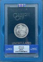 1884-CC Morgan Dollar GSA | NGC MS63+ | Beautiful Luster