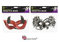 Halloween Eye Mask Sequin Venetian Masquerade Fancy Dress Spooky Scary Party UK