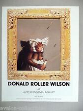 Donald Roller Wilson Art Gallery Exhibit PRINT AD - 1989 ~~ monkey, chimp