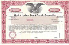 "CENTRAL HUDSON GAS & ELECTRIC CORPORATION...ABN ""SPECIMEN""  STOCK CERTIFICATE"