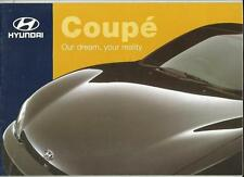 HYUNDAI COUPE 1.6i  2.0i  2.0 SE SALES BROCHURE MAY 1998