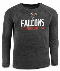 Atlanta Falcons Men's Long Sleeve Shirt Grey XL Fanatics Sports Football NEW