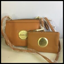 Mimco MIM Secret Couch Hip Across body Hand Bag Matching Pouch Honey BNWT
