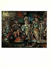 """1977 Vintage ROUAULT """"PITCH BALL PUPPETS WEDDING NINI"""" COLOR offset Lithograph"""