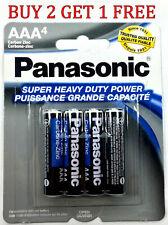 4 Wholesale Panasonic AAA Triple A Batteries heavy Duty Battery 1.5v Bulk Free