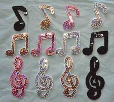 Music Notes Embroidered Motifs Iron/sew On Patch Badge Embroidery Musical notes