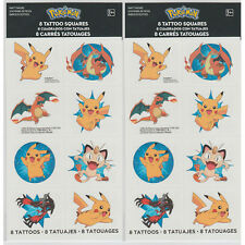 16ct Pokemon Pikachu & Friends Tattoos Birthday Decoration Party Favors Supplies