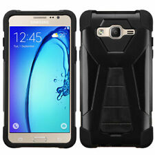 For Samsunge On5 Black Inverse Advanced Armor Stand Protector Case Cover