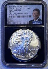 2016 w $1 Burnished Silver Eagle Lettered Edge NGC MS 70 ER