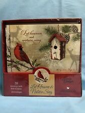 Christmas Cards Set Of 20 Let Heaven And Nature Sing Sealed