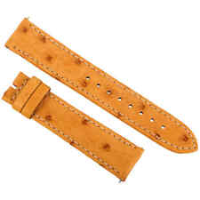 Hadley Roma 20 MM Matte Light Camel Ostrich Leather Strap 20OS12C