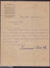 Antique Commercial Letter / La Carmelita / Ponce Puerto Rico / 1915