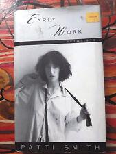 EARLY WORK 1970 - 1979 - PATTI SMITH - PLEXUS 1994 - E3