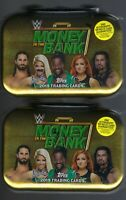 (2) 2019 Topps WWE MONEY IN THE BANK Wrestling Card BRIEFCASE TIN Auto/Relic LOT
