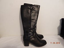 Womens Knee high style boots TALL Size 9.5 M Good Brown APT 9