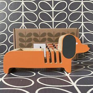 ORLA KIELY Dachshund Sausage Dog Letter Rack Pen & Stationery Holder ~ See Pics