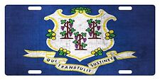 Connecticut State Flag  Custom License Plate State Emblem Metal Version