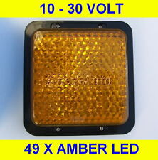 AMBER INDICATOR  49 LED Light Lamp 10 - 30 Volt 12v 24v