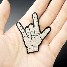HAND ROCK METAL HEAVY NEW Embroidered Patch Iron Sew Logo Hardcore Emblem Custom