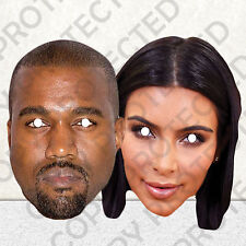 KAYNE WEST AND KIM KARDASHIAN CELEBRITY FACE MASK MASKS PARTY HEN STAG #MP8