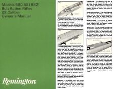 Remington M580, 581, 582 ,22 Bolt Action Rifle Manual
