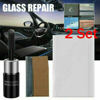2 Set Auto Glass Nano Repair Fluid Car Window Glass Crack Chip Repair Tool Kits
