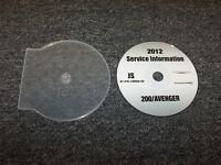 2012 Dodge Avenger Sedan Shop Service Repair Manual DVD SE SXT R/T 2.4L 3.6L V6