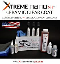 """CERAMIC COATING """"WET LOOK""""  2oz/60ml  9H CAR PAINT DETAILERS KIT  -  MADE IN USA"""