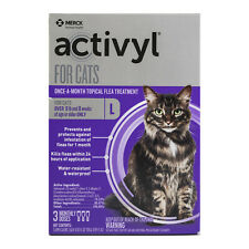 Merck Activl Flea Treatment Once-a-Month Topical 3 doses Cats over 9 lbs.