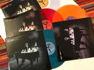 Johnny Hallyday Bercy 2003 4 vinyles couleurs + 4 photos 30x30 cm -couleurs