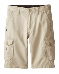 $42 Hurley One and Only Cargo Shorts Boy's Size XL (20) Bamboo 981039-172 NWT