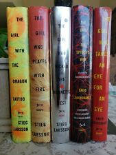 Lot 5~GIRL WITH THE DRAGON TATTOO~MILLENNIUM SERIES SET~Larsson~1st Ed~HARDCOVER