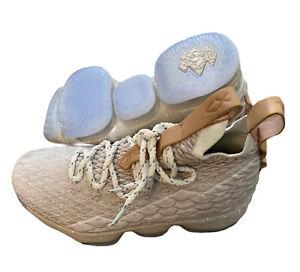 Nike Lebron 15 XV Ghost GS String Vachetta Basketball Shoes Size 5Y 922811-200