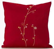 Unbranded Faux Silk Floral Modern Decorative Cushions